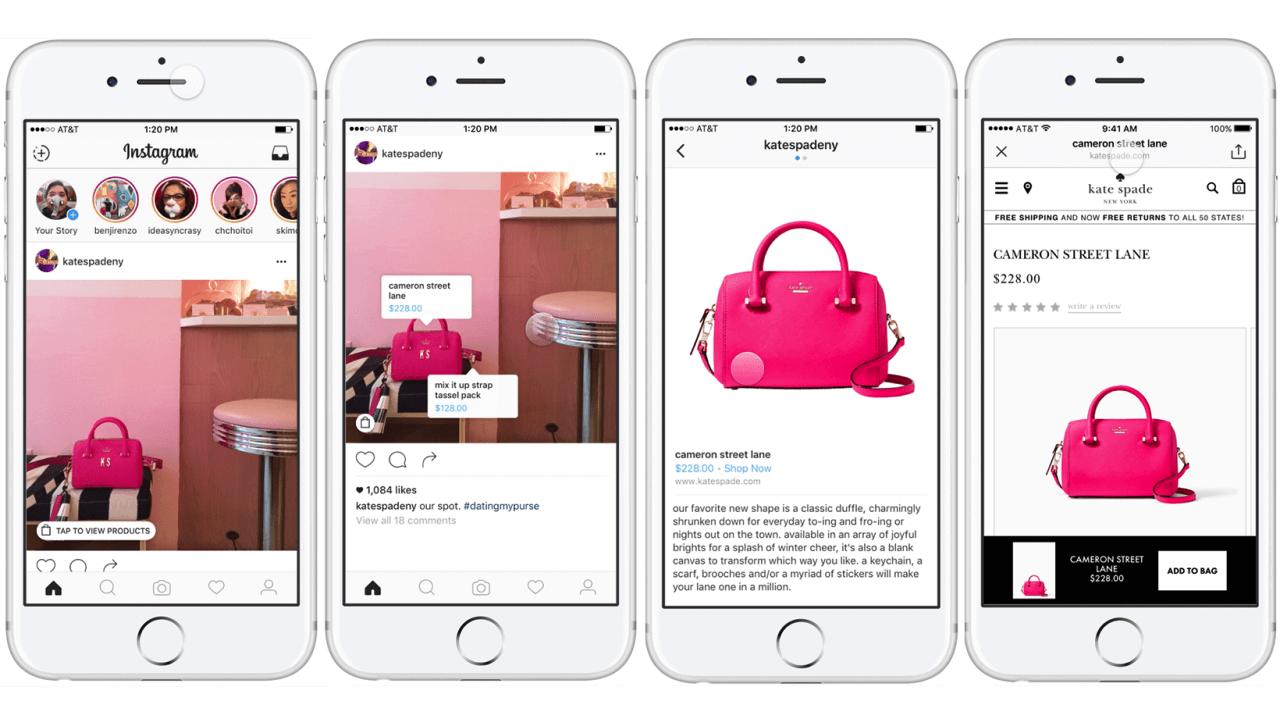 Shopping direttamente da instagram?